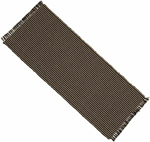 """Home Collection by Raghu Newbury Gingham Black Table Runner, 14 by 36"""""""