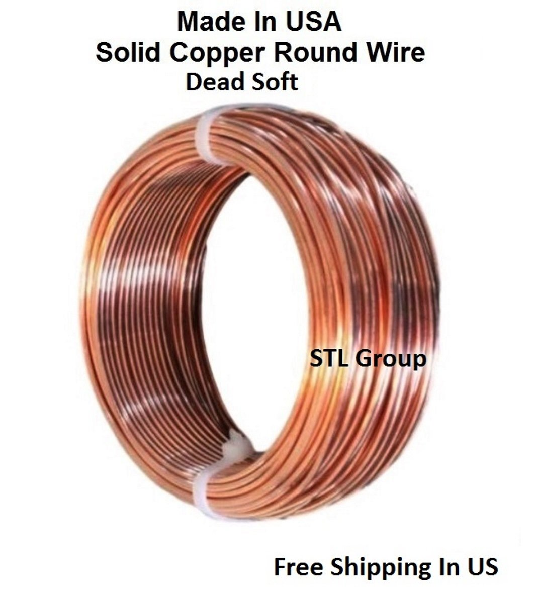 "SOFT  Solid Copper /"" USA/"" 10 Ga Copper Jewelry /& Craft Wire 15 Ft. Coil"