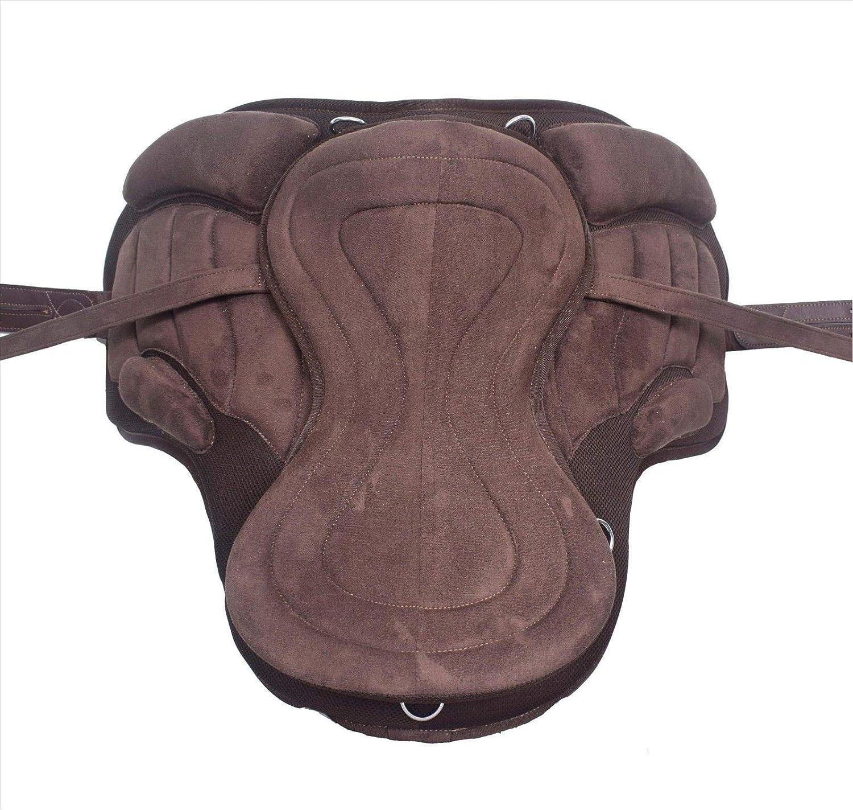 New Freemax Treeless English All Purpose Horse Tack /& Saddle TLS106 14 Inch, Full Brown