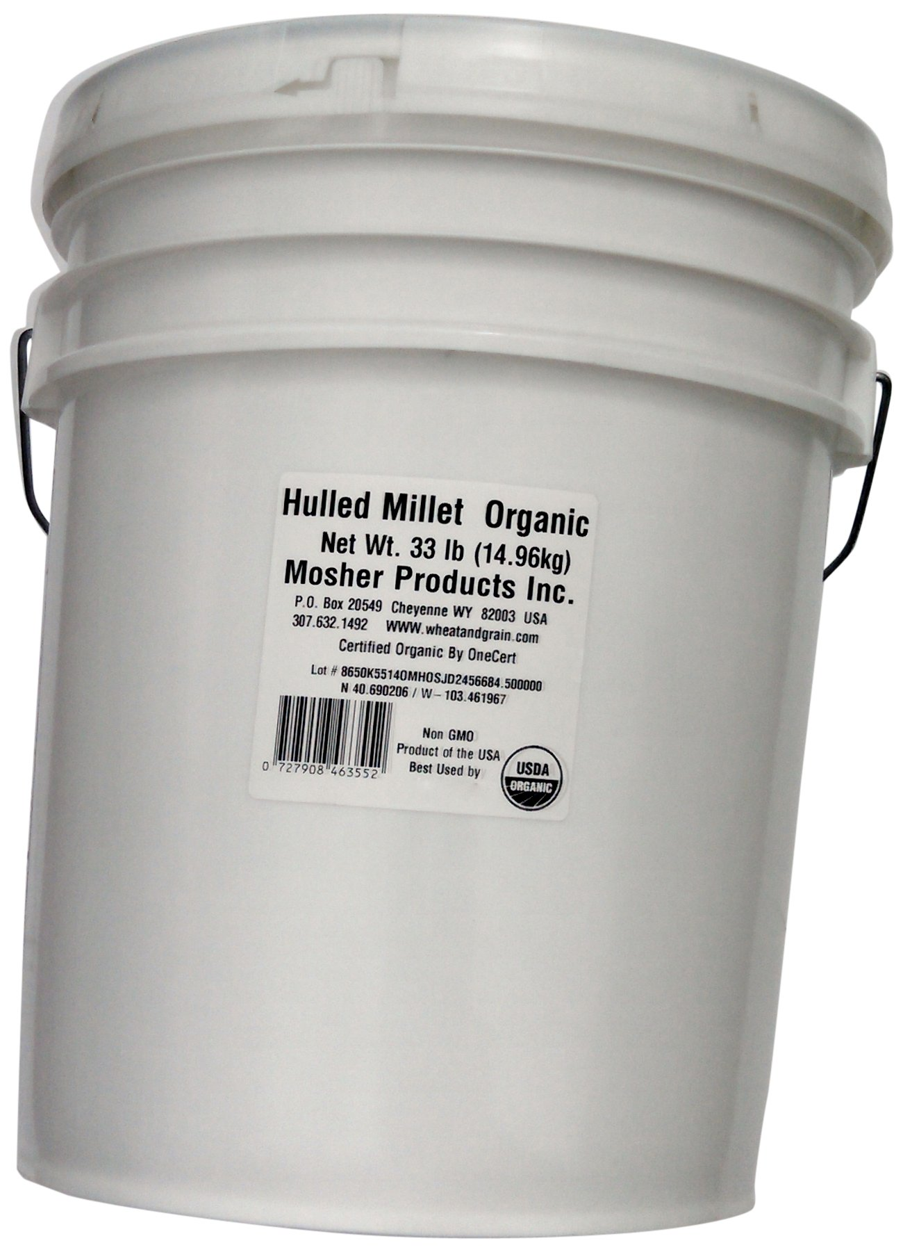 Mosher Products Organic Hulled Millet, 33 Pound