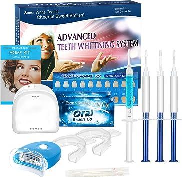 Kit de Blanqueamiento de Dientes, iFanze Blanqueador Dental Profesional, dientes blancos, dientes blancos white, dientes blancos led, dientes blancos luz, reducir manchas dientes: Amazon.es: Salud y cuidado personal