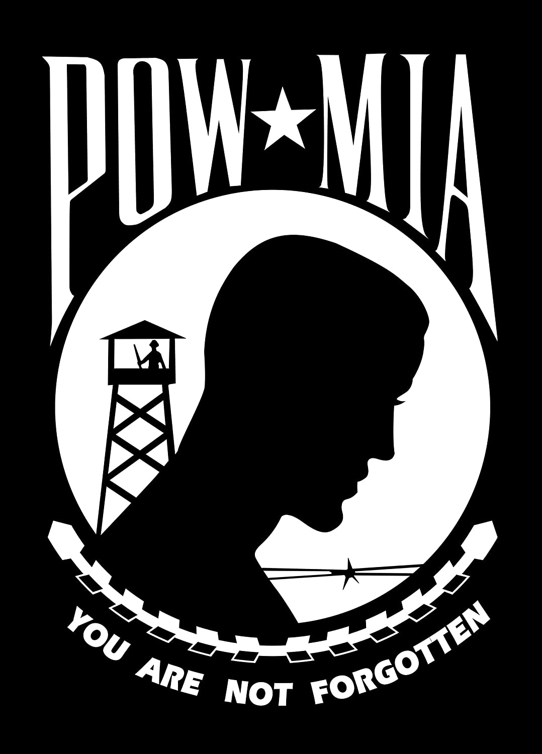 POW MIA YOU ARE NOT FORGOTTEN Sticker Decal