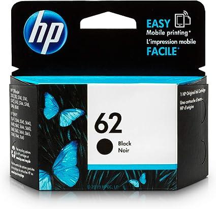 Amazon.com: Original cartucho de tinta HP 62negro ...
