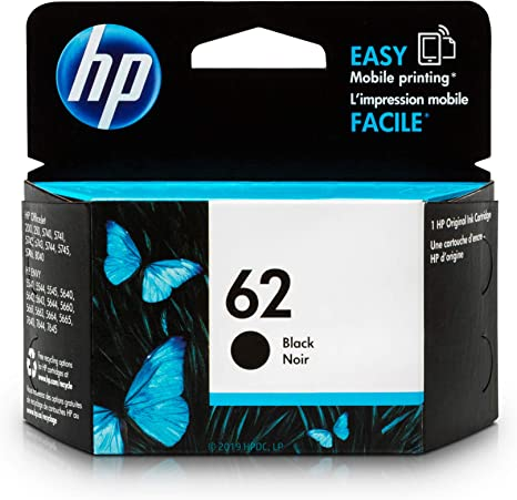 Amazon.com: Original cartucho de tinta HP 62 negro ...