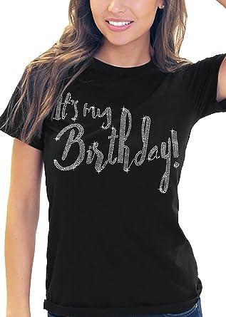 Its My Birthday Womens Rhinestone T Shirt