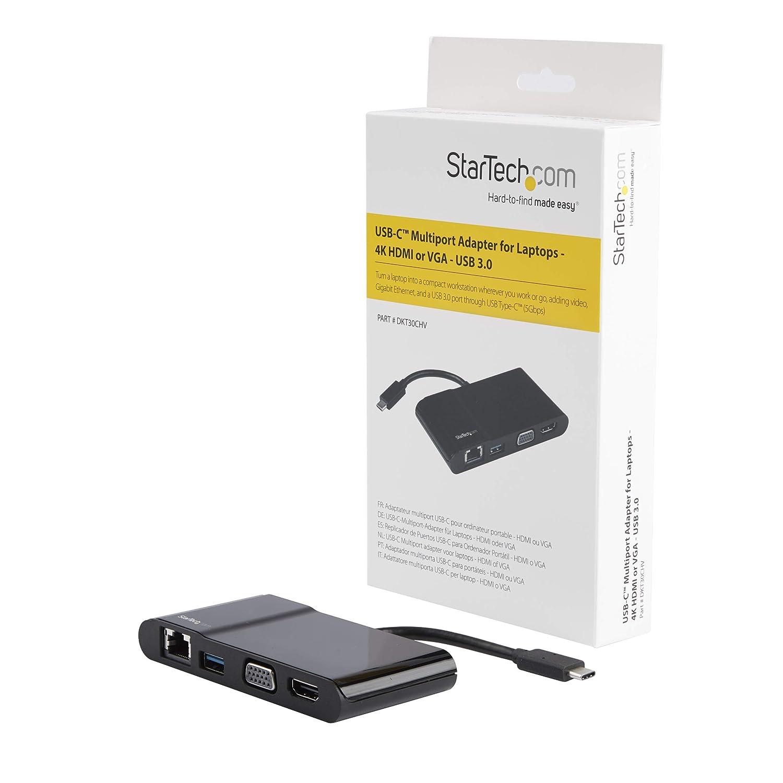 StarTech.com DKT30CHV - Adaptador multipuertos USB-C para Ordenadores portátiles, Color Negro: Startech: Amazon.es: Informática