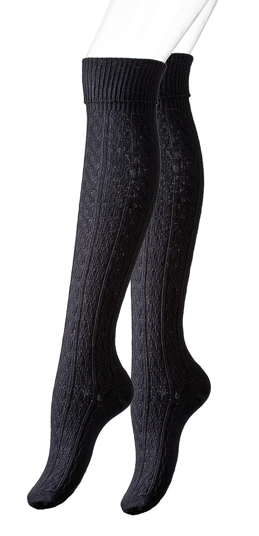 Calze al ginocchio con la busta per Donna, cavo maglia, a maglia grossa Vincent Creation 4039