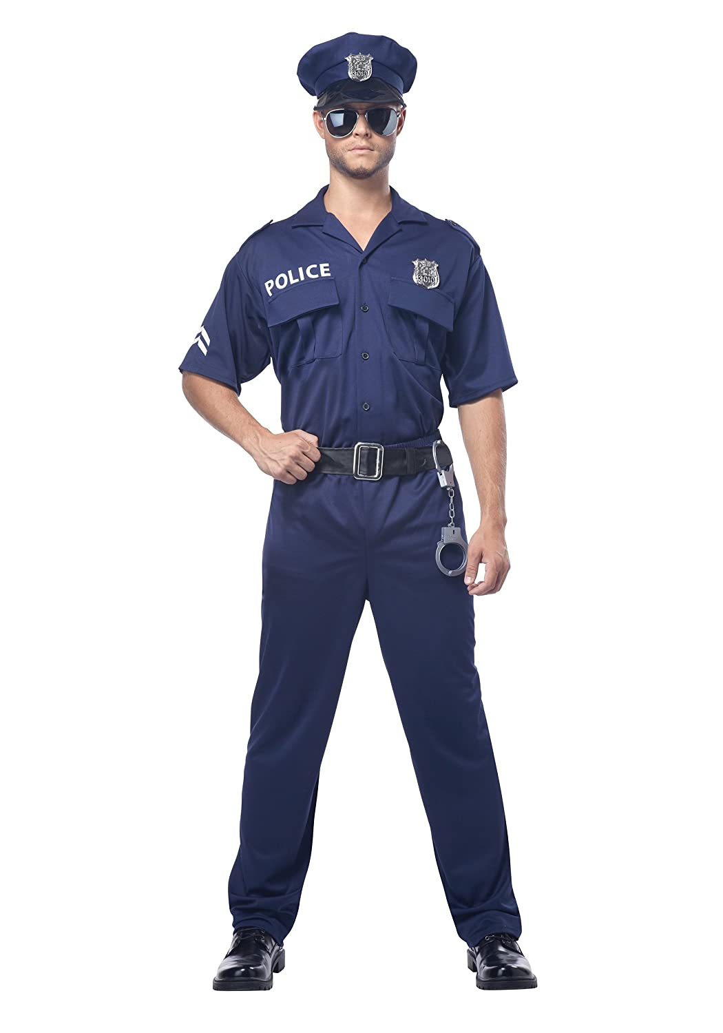 0cc2bccf622 Amazon.com: Police Officer Costume Adult - Size Medium: Clothing