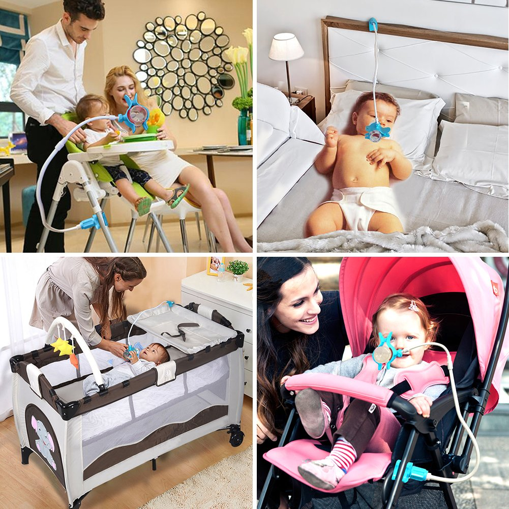 Hands Free Baby Bottle Holder 360º Rotation for Baby Trolley, Multifunction Nursing Bottle Holder for Hands Free Feeding by YingPing