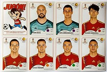 Jugón PANINI Set Completo CROMOS Extras Spain 2018 FIFA World Cup Rusia ESPAÑA: Amazon.es: Juguetes y juegos
