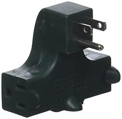 IIT 26815 Right Angle Wall Tap   3 Outlet Splitter   Ul Listed   Behind