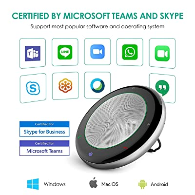 Buy Yealink Bluetooth Speakerphone Conference Microphone Teams Certified CP700 USB Full Duplex Noise Reduction Algorithm Home Office 360° Voice Pickup(Teams Optimized, CP700) Online in Italy. B08RRP8PZ7