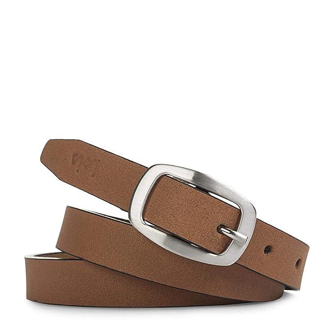 carino economico scarpe da corsa scarpe autunnali Lois - Cintura donna in vera pelle con fibbia metallica. Logo ...