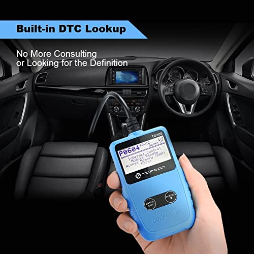 The Topdon TD309 code reader performs basic functions such as reading and erasing DTCs.