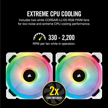 Corsair Hydro 100i RGB Platinum SE, Hydro Series, 240mm Radiator (Dual  LL120 RGB PWM Fans, Advanced RGB Lighting and Fan Control with Software)  Liquid