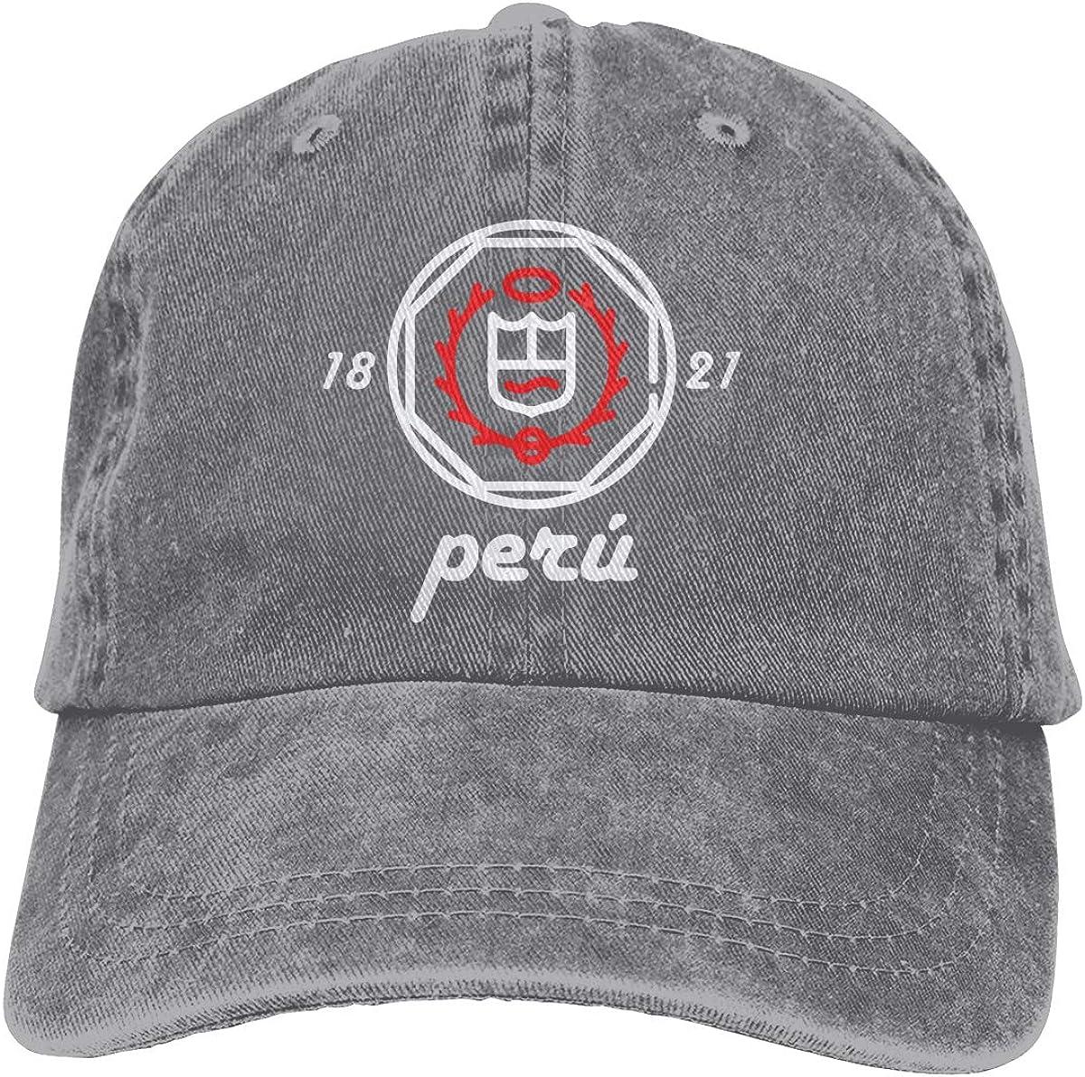 PMGM-C White Peruvian Shield Unisex Trendy Jeans Casquette Adjustable Baseball Cap