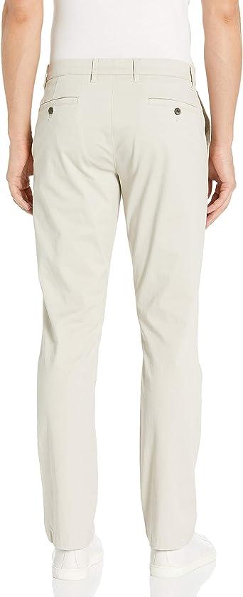 Goodthreads Men/'s Slim-Fit Washed Stretch Chino Pant, Khaki Size 34W x 31L