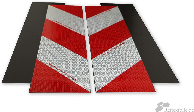 2 x 9 m Reflecto Kfz-Warnmarkierung 141 mm Orafol ORALITE 5921M nach DIN 30710