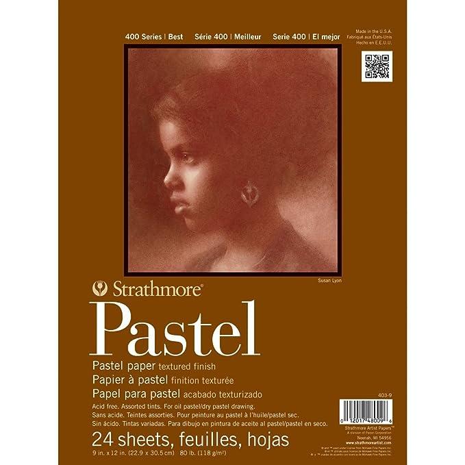 6 Assorted Colours Winsor /& Newton Tints Pastel Paper Pad A4
