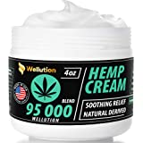 Hemp Cream 95,000 mg Blend – All-Natural Seed Oil Extract for Knee, Lower Back, Feet, Wrist and Joint Pain Relief - Extra Strength Massage Lotion with Arnica, Menthol and Organic Oils