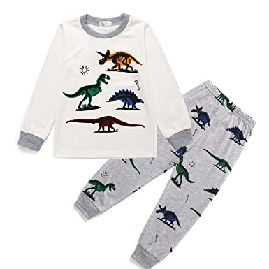 9cab1ac3813 Little Hand Toddle Boys Pjs Dinosaur Pyjamas Set Boys Winter Nightwear Kids  Pyjama Long Sleeve Sleepwear Clothes 2 Pieces 100% Cotton Age 1-6 Years  ...