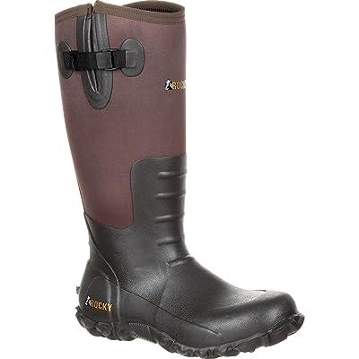 ROCKY Core Brown Rubber Waterproof Outdoor Boot | Rain