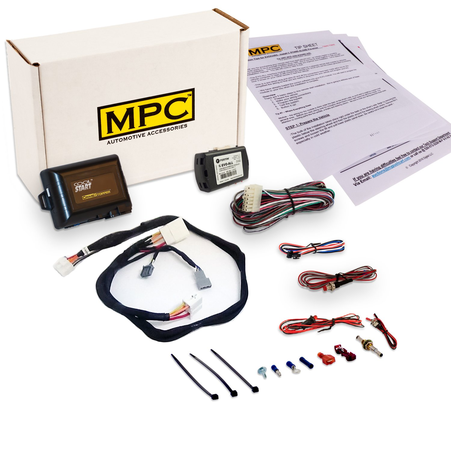 Add-on Remote Start Kit For 2009-2015 Honda Pilot - Key to Start - Plug and Play - Includes T-Harness -Uses OEM Remotes