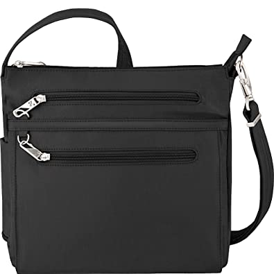 2e8b69121be6 Travelon Anti-Theft Essential North South Bag - Small Nylon Crossbody for  Travel