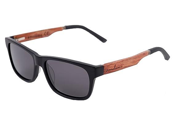 amoloma Acetat - Holz - Hybrid Sonnenbrille Karée stil Grau 926DZg