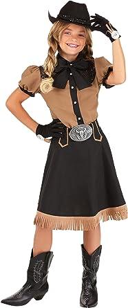 Fun Costumes Disfraz de vaquera Lasson para niña - Marrón - Small ...