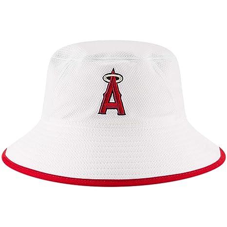 6cc897c1d Amazon.com : Los Angeles Angels New Era Team Bucket Hat - White ...
