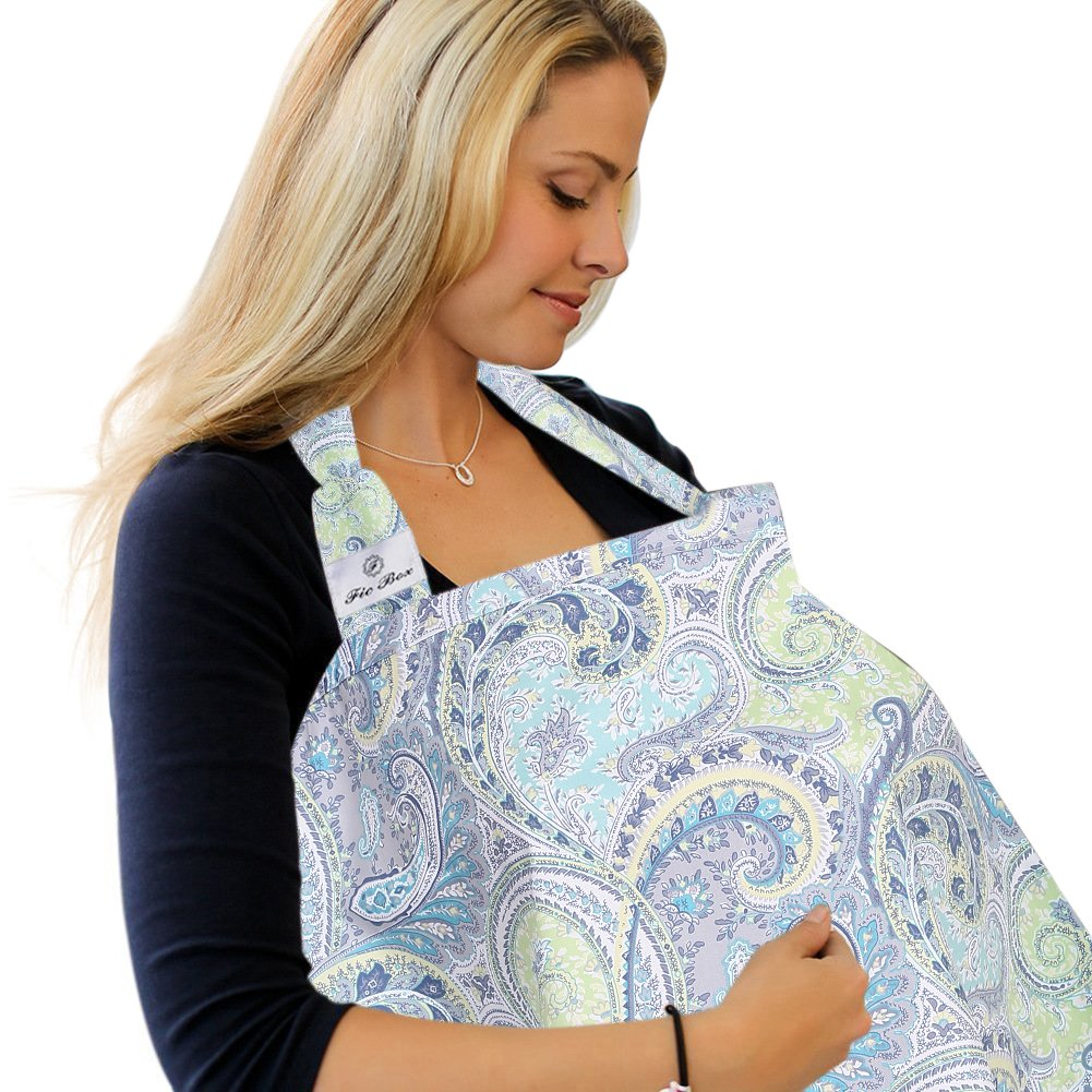 FicBox Breast Feeding Nursing Cover Made By Cotton (X)