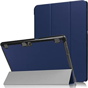 """Asng Lenovo Tab 2 A10/TAB-X103F Tab 10 Case, Ultra Slim Lightweight Tri-Fold Cover for Lenovo Tab 2 A10-70/Tab 2 A10-30/Tab 3 Plus/Tab 3 10 Business TB3-X70/TAB-X103F Tab 10 10.1"""" Tablet (Dark Blue)"""