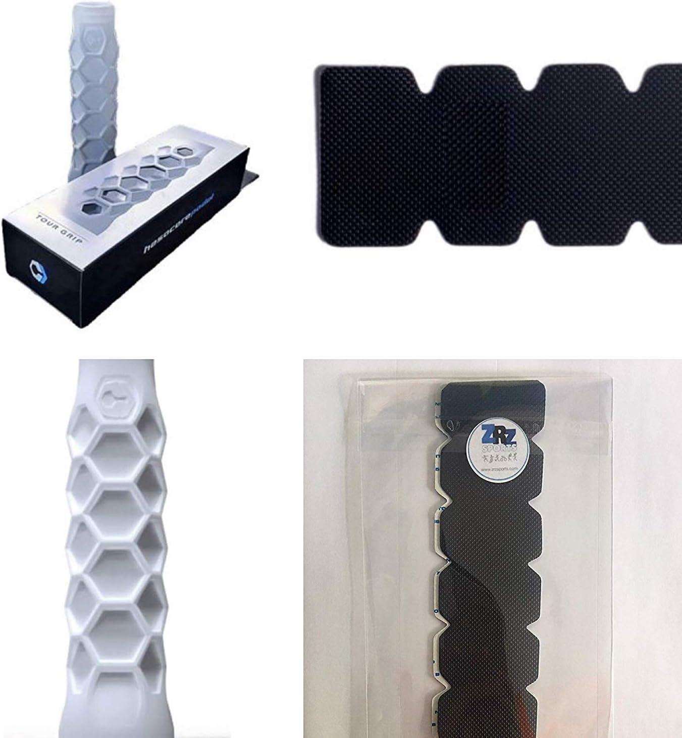 Grip Padel HESACORE Tour Grip + 1 Unidad Protector Pala de Padel ZRZ Dentado Negro MAS Vendido