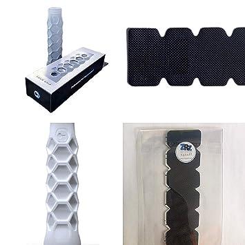 Grip Padel HESACORE Tour Grip + 1 Unidad Protector Pala de Padel ZRZ Dentado Negro MAS