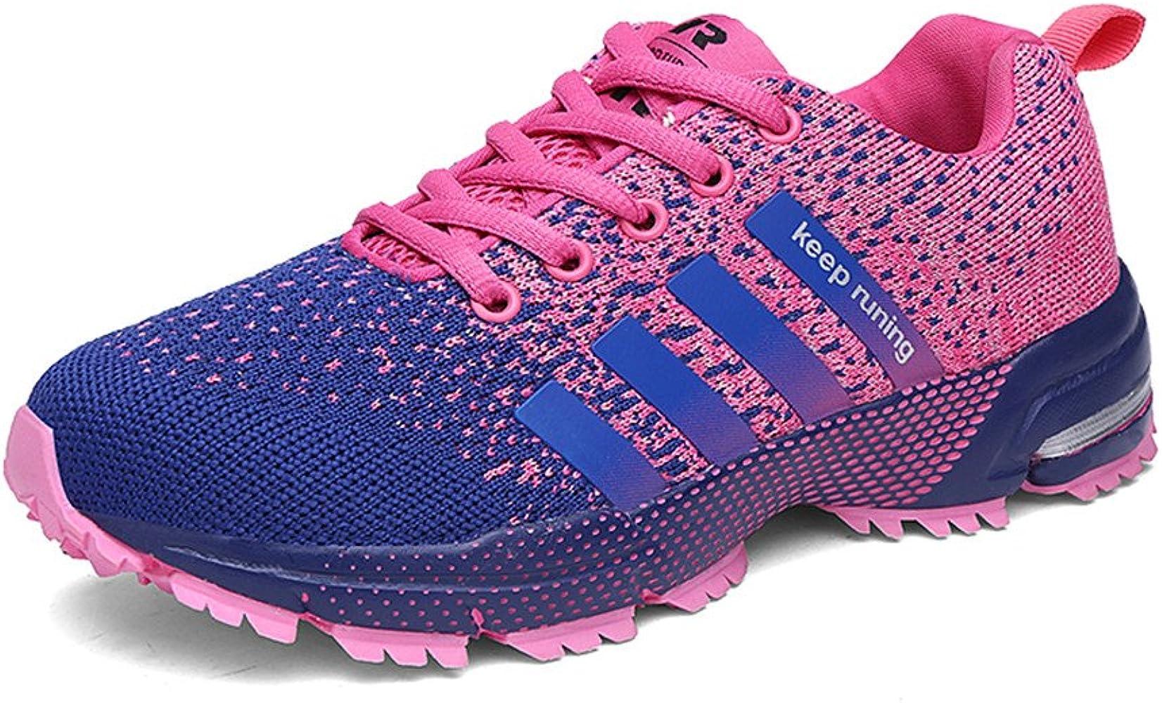Sollomensi Zapatos para Correr en Montaña y Asfalto Aire Libre y Deportes Zapatillas de Running Padel para Hombre Rosa 37: Amazon.es: Ropa y accesorios