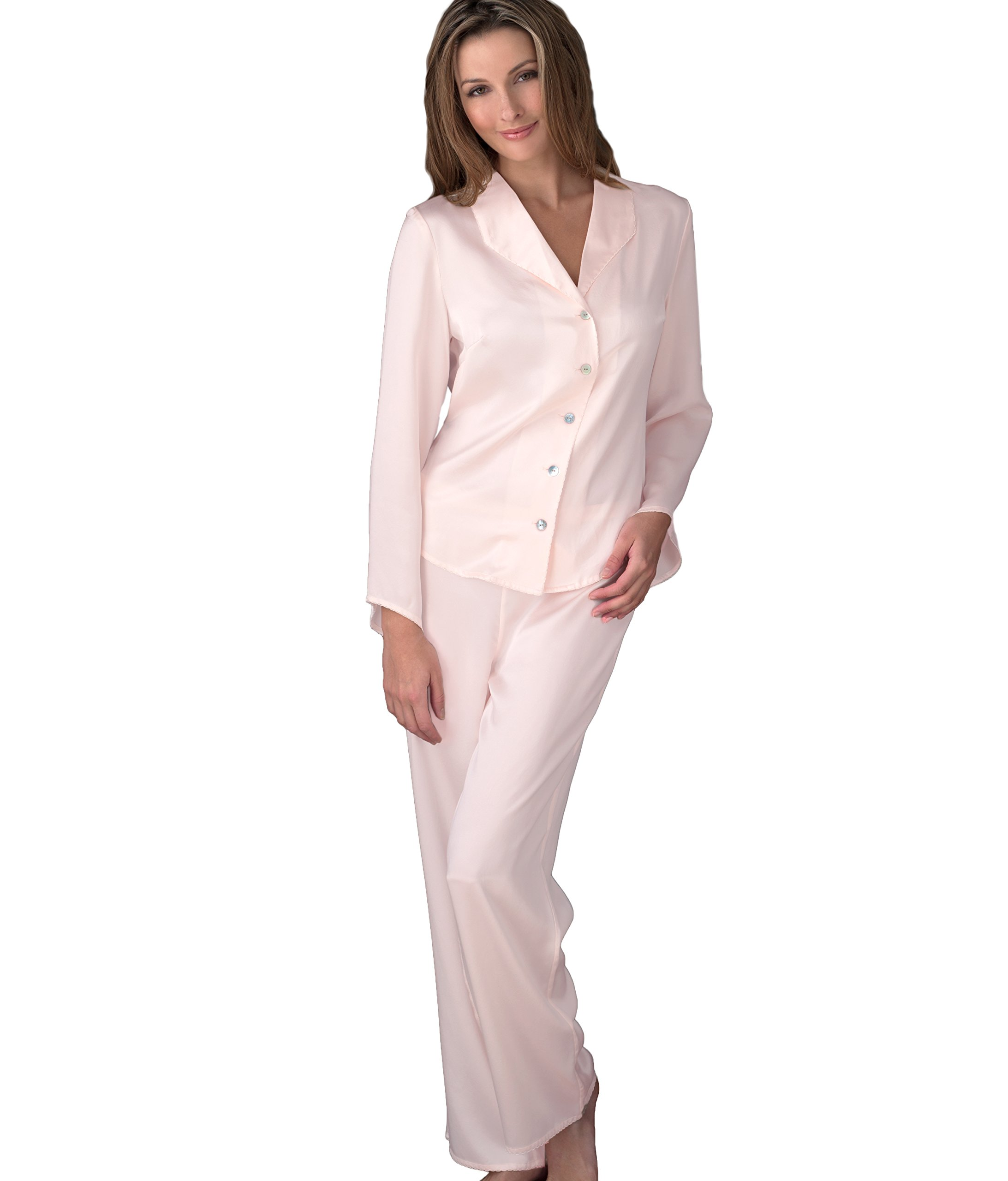 Julianna Rae Devon Women's 100% Silk Pajama, Petite, Delicate, XLP by Julianna Rae