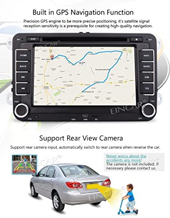 Eincar 7 pulgadas Android 6.0 estšŠreo Quad Core de radio de coche para USB SD del golf de Jetta Passat EOS Soporte GPS Audio Video Reproductor de CD ...