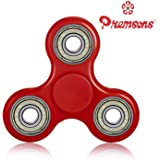 Premsons Fidget 608 Four Bearing Premium Quality ABS Material Hand Spinner, (Red, Silver Steel Bearings)