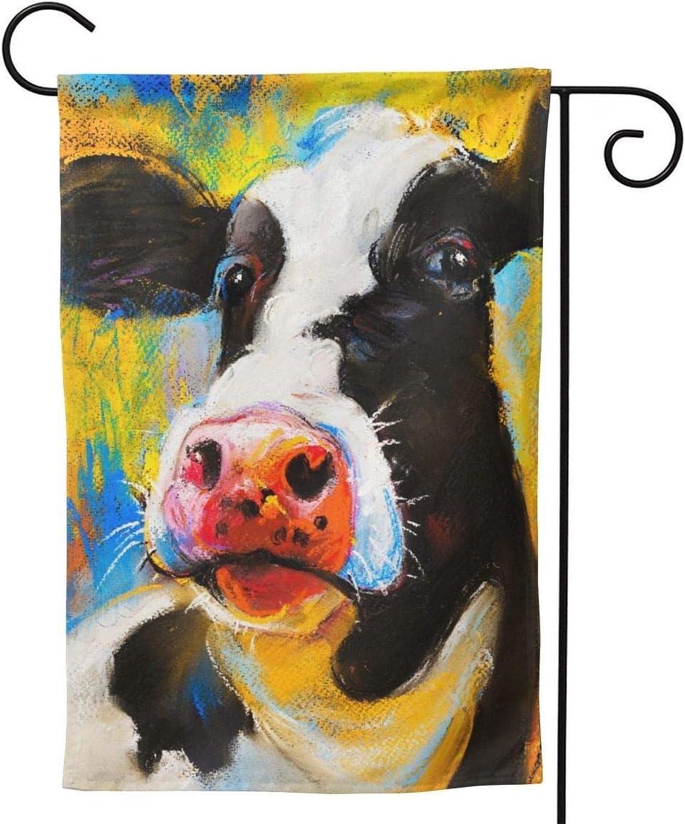 YISHOW Farm Cow Moo Garden Flag Double Sided Vertical House Flags Farm Cow Moo Yard Signs Outdoor Decor 12.5 X 18 Inch