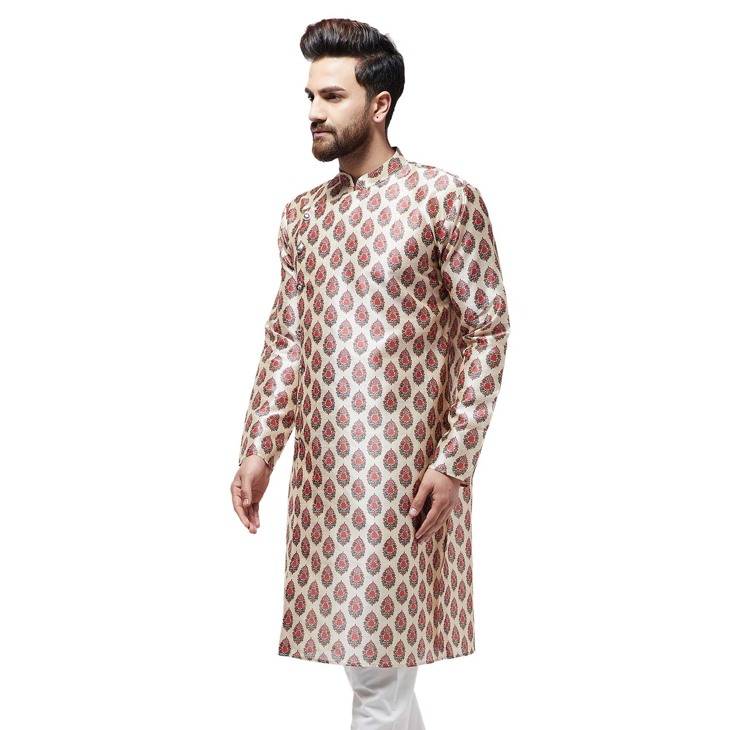 Festival-Men-Dupion-Silk-Kurta-Pajama-Ethnic-Party-Wear-Bollywood-Dress-Pyjama thumbnail 34