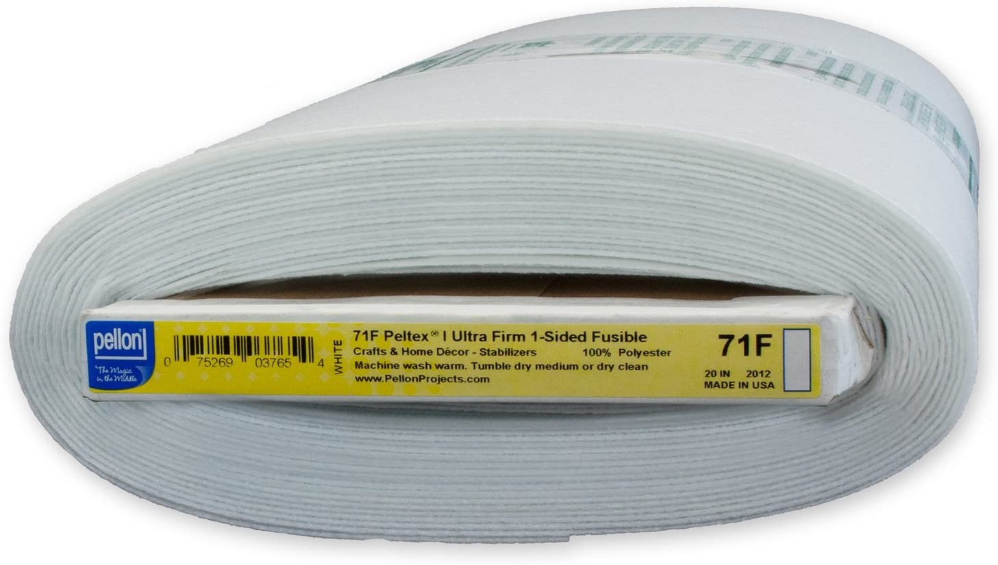 Pellon Peltex One-Sided fusible stabilizer, White