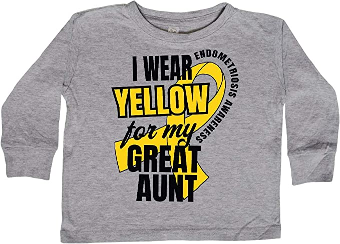 Endometriosis Awareness Baby T-Shirt inktastic I Wear Yellow for My Great Aunt