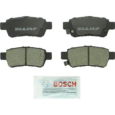 Bosch BC1088 QuietCast Premium Ceramic Disc Brake Pad Set For 2005-2010 Honda Odyssey; Rear: Automotive