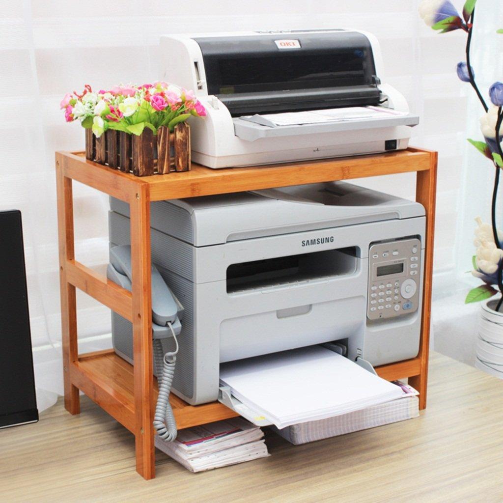 703042cm PeaceipUS Desktop Multi-Purpose Storage Rack, Printer Rack, Scanner Rack, Bamboo Storage Rack, Office Household Storage Rack (Capacity   70  30  42cm)