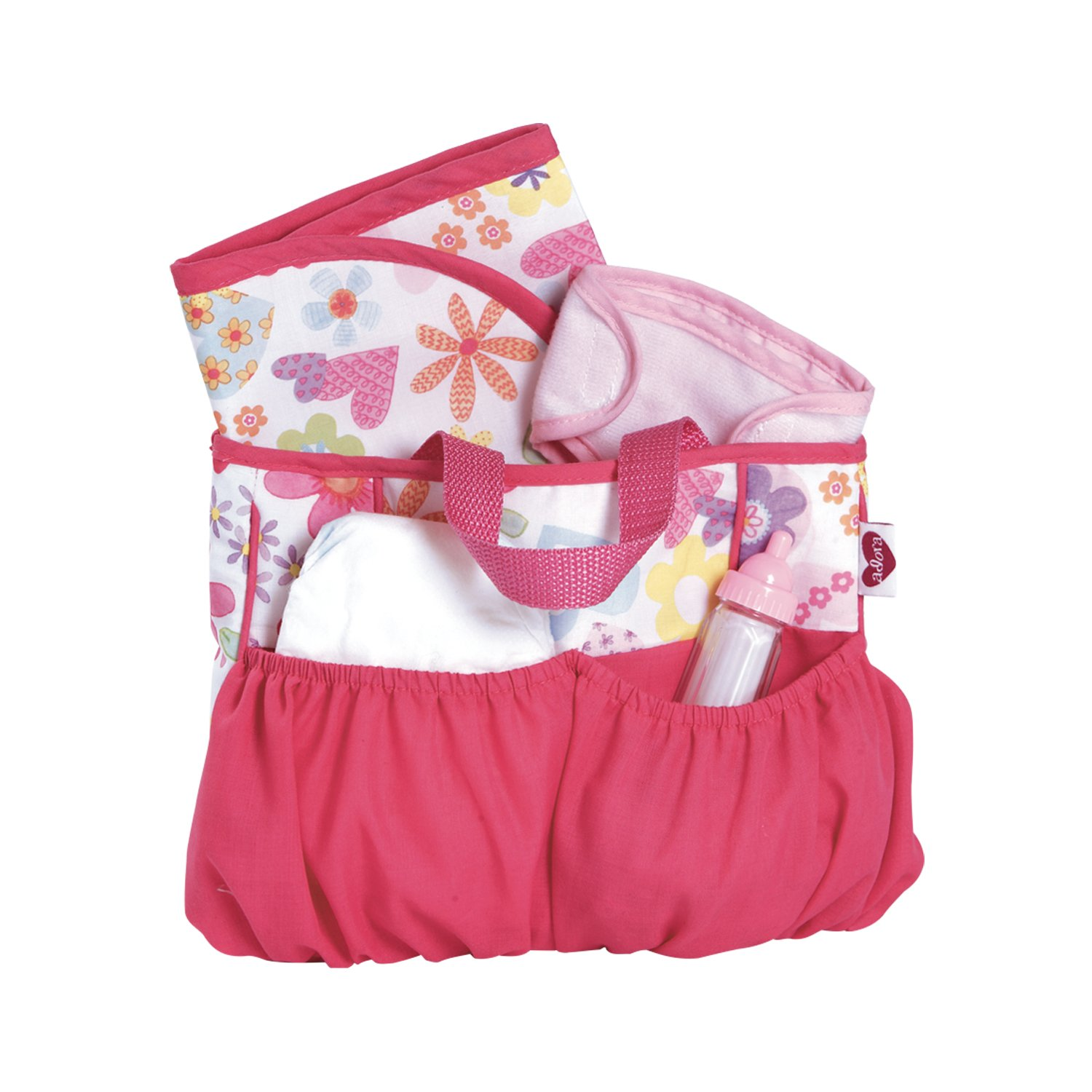 Adora Dolls Baby Dolls Diaper Bag with Accessories Changing Set (5-Piece) 20603021