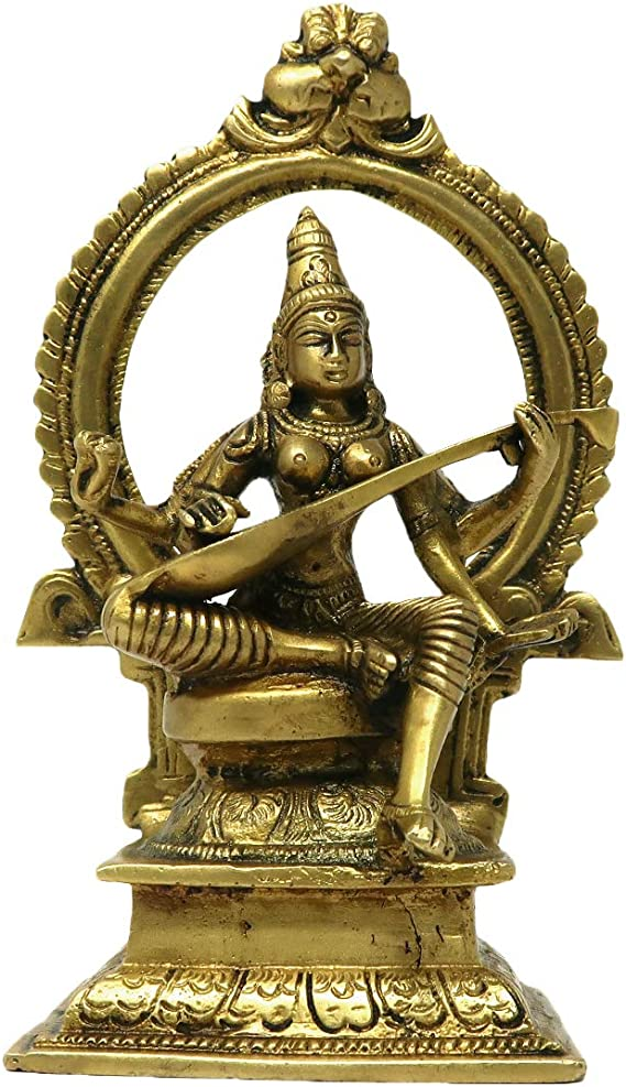 Hindu Deity MATA Saraswati Religious Murti Sculpture Goddess of ...
