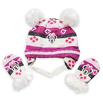 Amazon.com  Disney Minnie Mouse Winter Hat and Mittens Set Baby 6-12 Months  Pink  Baby 69c56071d87