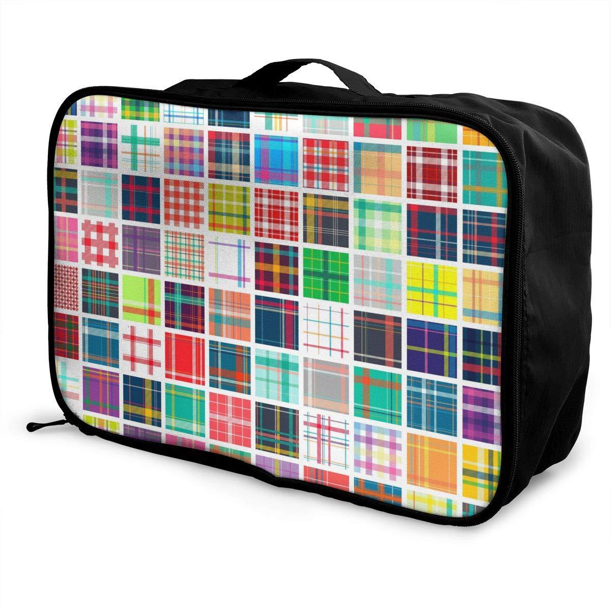 YueLJB Scotland Variety Tartan Lightweight Large Capacity Portable Luggage Bag Travel Duffel Bag Storage Carry Luggage Duffle Tote Bag