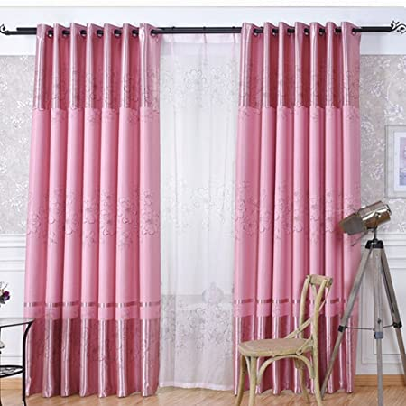 Balcony bay window curtains finished full shade cloth gauze ...